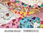 Art Mosaic Glass On The Wall ...