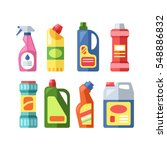 house cleaning tools vector... | Shutterstock .eps vector #548886832