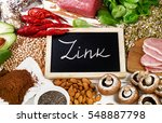 foods highest in zink. healthy... | Shutterstock . vector #548887798