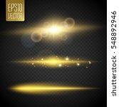 vector transparent sunlight... | Shutterstock .eps vector #548892946