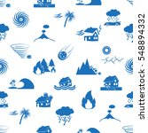 various natural disasters... | Shutterstock .eps vector #548894332
