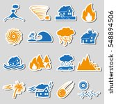 various natural disasters...   Shutterstock .eps vector #548894506