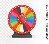 colorful wheel of luck or... | Shutterstock .eps vector #548894746