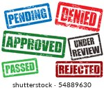 set of approval grunge rubber...   Shutterstock .eps vector #54889630