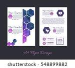 polygonal brochure  a4 flyer... | Shutterstock .eps vector #548899882