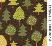 forest seamless pattern with... | Shutterstock .eps vector #548908318
