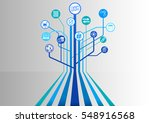blockchain vector background... | Shutterstock .eps vector #548916568