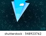 sky map of hemisphere.... | Shutterstock .eps vector #548923762