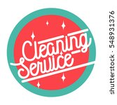 color vintage cleaning service... | Shutterstock .eps vector #548931376
