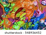 Colorful Blots. Abstract...