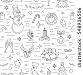christmas celebration pattern.... | Shutterstock .eps vector #548936506