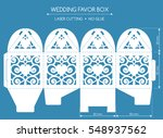 openwork favor box with a lace... | Shutterstock .eps vector #548937562