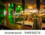 Golden Chrome Draught Taps In ...