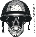 vector illustration of skull in ... | Shutterstock .eps vector #548938918