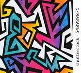 rainbow geometric seamless... | Shutterstock .eps vector #548939875