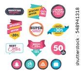 sale stickers  online shopping. ... | Shutterstock . vector #548941318