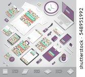 corporate identity stationery... | Shutterstock .eps vector #548951992