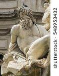 detail of zeus statue in piazza ... | Shutterstock . vector #548953432