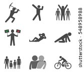 set of people stick man icons...
