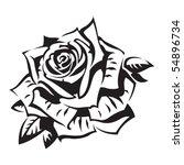rose | Shutterstock .eps vector #54896734