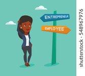 an african woman standing at... | Shutterstock .eps vector #548967976