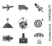 set of business icons and...