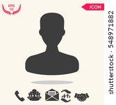 profile  user icon. | Shutterstock .eps vector #548971882