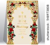 indian wedding invitation card... | Shutterstock .eps vector #548973808