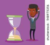 an african american businessman ... | Shutterstock .eps vector #548975356