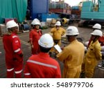 contractor   client joint site... | Shutterstock . vector #548979706