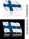 finnish flag flowing | Shutterstock .eps vector #54898255