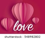 love invitation card valentine... | Shutterstock .eps vector #548982802