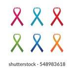 ribbon logo template vector... | Shutterstock .eps vector #548983618