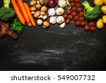 healthy food background.... | Shutterstock . vector #549007732