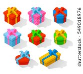 gift icon  isometric | Shutterstock .eps vector #549018976