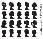 women profile silhouettes  ... | Shutterstock .eps vector #549021406