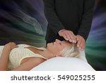 spirit guide assisting healing... | Shutterstock . vector #549025255