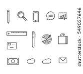analytics icons vector...   Shutterstock .eps vector #549027646