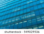 Blue Colored Glass Facade