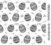 easter egg pattern background | Shutterstock .eps vector #549041086