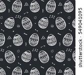 easter egg pattern background | Shutterstock .eps vector #549041095