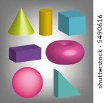 colorfull 3d vector geometric... | Shutterstock .eps vector #5490616