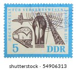 germany   circa 1960s  a stamp... | Shutterstock . vector #54906313