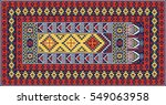 Colorful Oriental Mosaic Kilim...