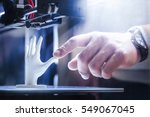 3d printing in progress | Shutterstock . vector #549067045