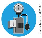 the device for pressure...   Shutterstock .eps vector #549069832