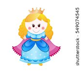 illustration of cute little... | Shutterstock .eps vector #549074545
