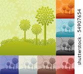 trees background collection in... | Shutterstock . vector #54907654