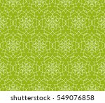 floral green geometric seamless ... | Shutterstock .eps vector #549076858