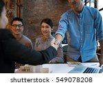 business partners introduction... | Shutterstock . vector #549078208